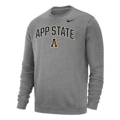 Appalachian State Nike Club Fleece Arch Crew