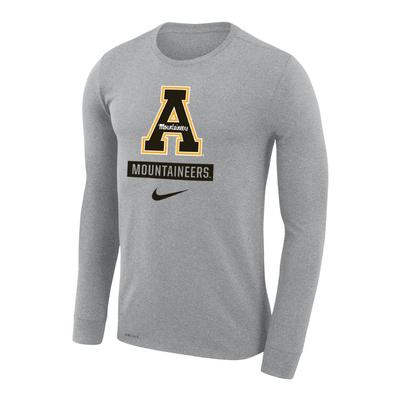 Appalachian State Nike Dri-FIT Legend Logo Long Sleeve Tee