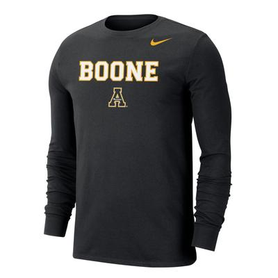 Boone Nike Men's Dri-FIT Cotton Long Sleeve Tee