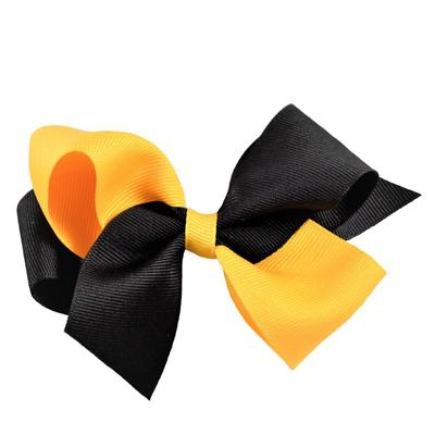 Ashley on Campus Black and Gold Classic Fluff Bow