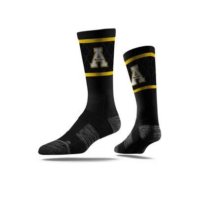 Appalachian State Strideline Classic Block A Crew Socks