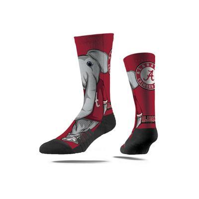 Alabama Strideline Mascot Full Sublimated Crew Socks