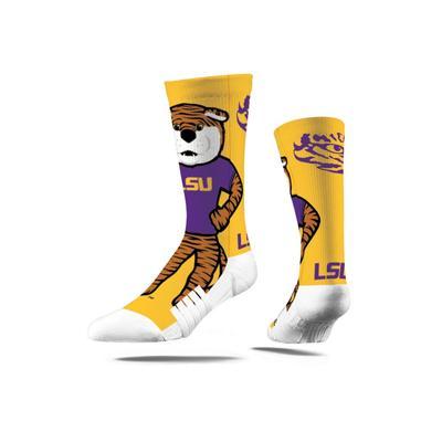 LSU Strideline Mascot Full Sublimated Crew Socks