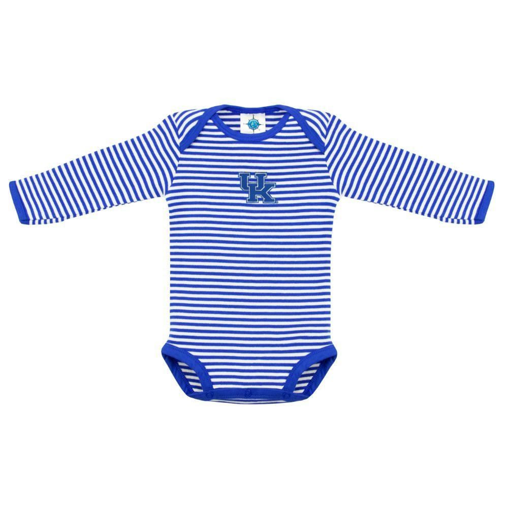 Kentucky Infant  Striped Long Sleeve Onesie