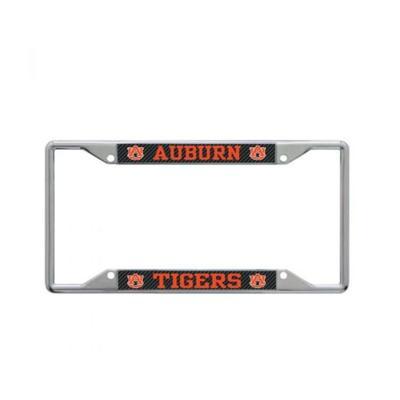 Auburn Carbon Fiber Logo License Plate Frame