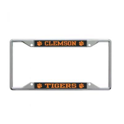 Clemson Carbon Fiber Tigers License Plate Frame