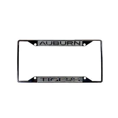 Auburn Metallic License Plate Frame