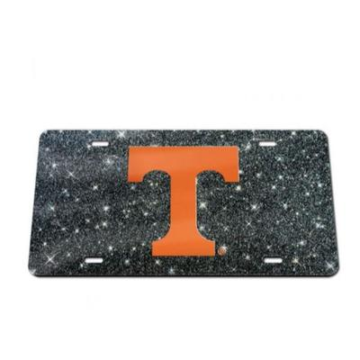 Tennessee Glitter Power T Logo License Plate