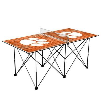 Clemson Pop-Up Portable Table Tennis Table