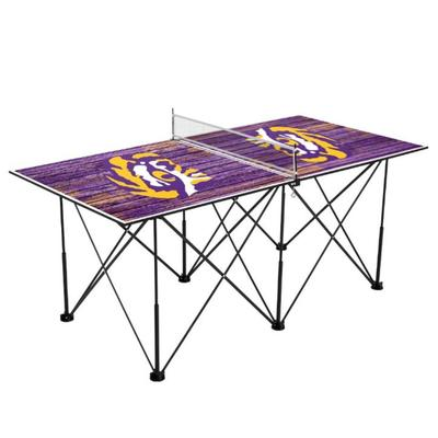 LSU Pop-Up Portable Table Tennis Table