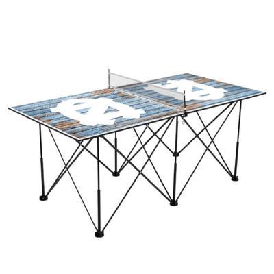 UNC Pop-Up Portable Table Tennis Table