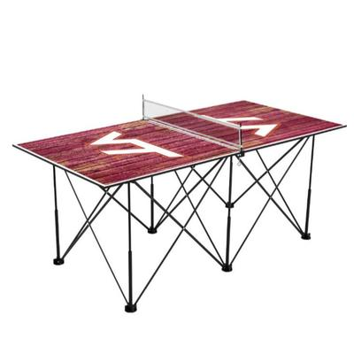 Virginia Tech Pop-Up Portable Table Tennis Table