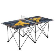 West Virginia Pop- Up Portable Table Tennis Table