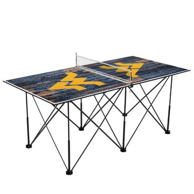 West Virginia Pop-Up Portable Table Tennis Table