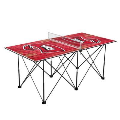 Western Kentucky Pop-Up Portable Table Tennis Table