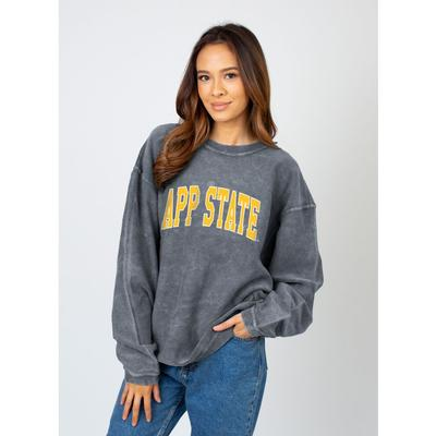 Appalachian State Chicka-D Women's Tall Outline Arc Corded Sweatshirt