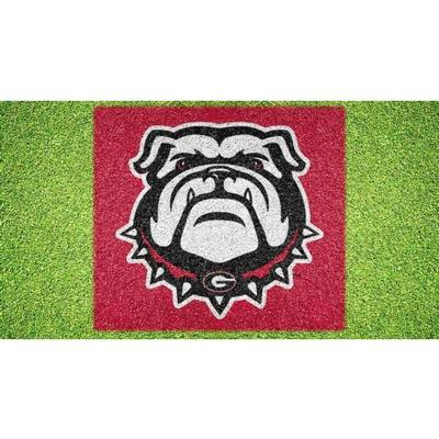 Georgia Bulldog Head Lawn Stencil Kit