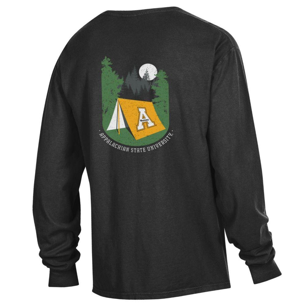 Appalachian State Tent Long Sleeve Comfort Colors Tee