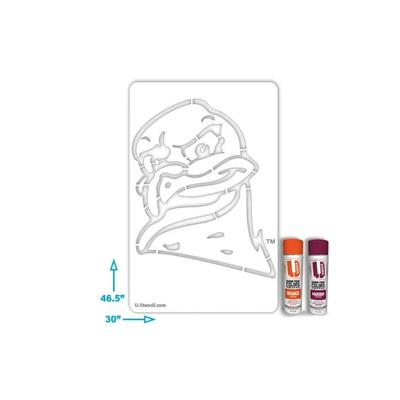 Virginia Tech Hokie Bird Stencil Kit