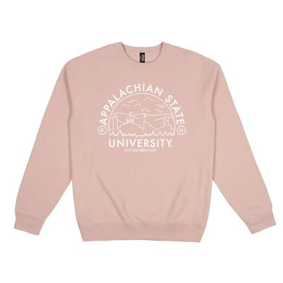 Appalachian State Uscape Heavyweight Crew Voyager Sweatshirt