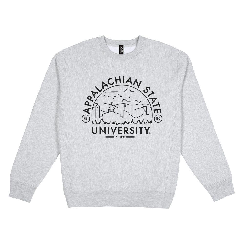 Appalachian State Uscape Heavyweight Crew Heather Voyager Sweatshirt