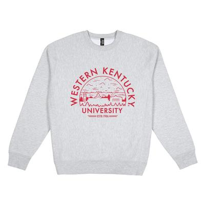 Western Kentucky Uscape Heavyweight Crew Heather Voyager Sweatshirt