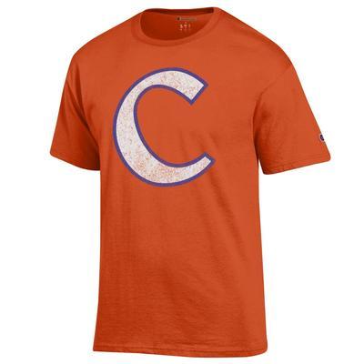 Clemson Champion Men's Giant C Logo Tee