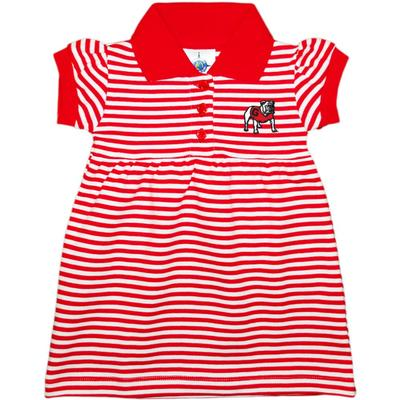 Georgia Infant Striped Game Day Dress