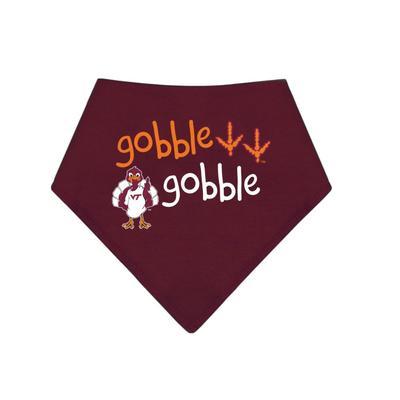 Virginia Tech Gobble Gobble Infant Bandana Bib