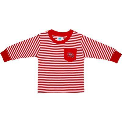 Western Kentucky Toddler Striped Long Sleeve Pocket Tee