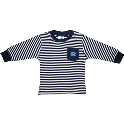 UNC Toddler Striped Long Sleeve Pocket Tee