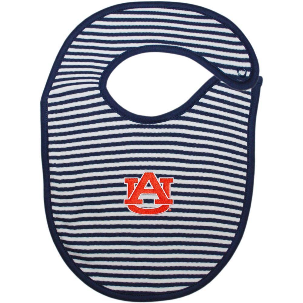 Auburn Striped Infant Bib