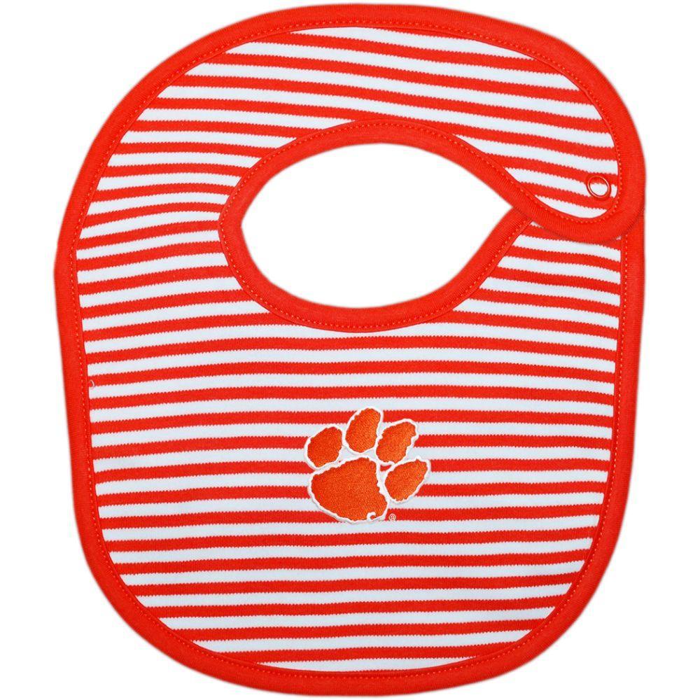 Clemson Striped Infant Bib
