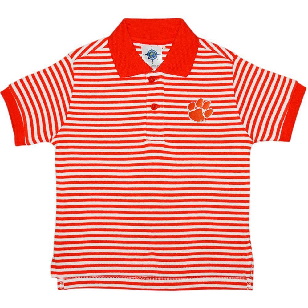 Clemson Toddler Striped Polo