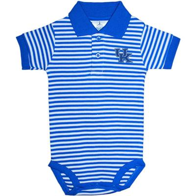 Kentucky Infant Striped Polo Onesie