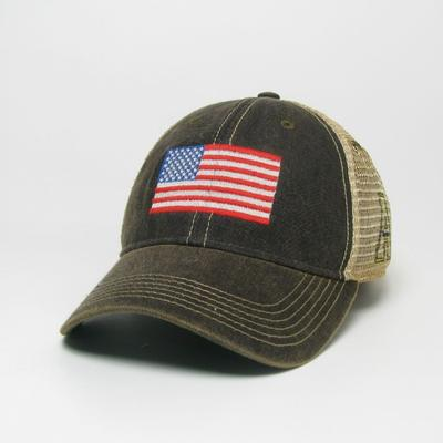 Appalachian State Legacy US Flag Adjustable Hat