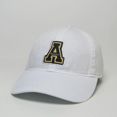 Appalachian State Legacy Youth A Logo Adjustable Hat WHITE