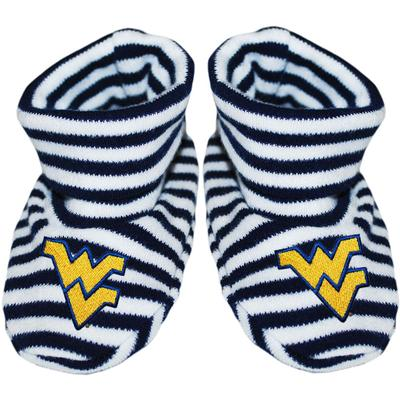 West Virginia Striped Booties