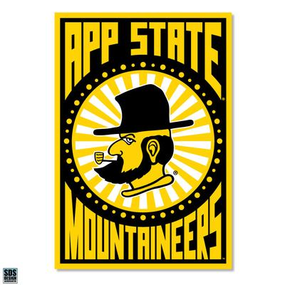 Appalachian State Sunburst App State Decal 6