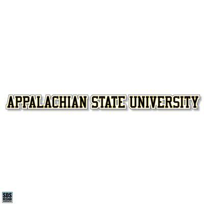 Appalachian State University Decal 20
