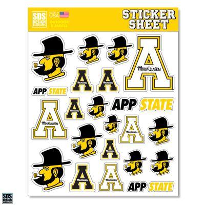 Appalachian State Sticker Sheet
