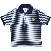 West Virginia Toddler Striped Golf Polo