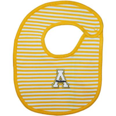 Appalachian State Infant Striped Bib
