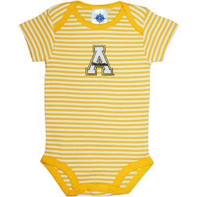 Appalachian State Infant Striped Onesie