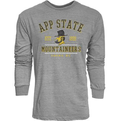 Appalachian State Arch Yosef App State Long Sleeve Triblend Tee