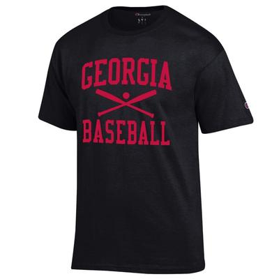 Georgia Champion Men's Basic Baseball Tee Shirt BLACK