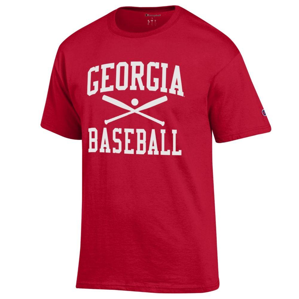 Georgia Champion Men's Basic Baseball Tee Shirt
