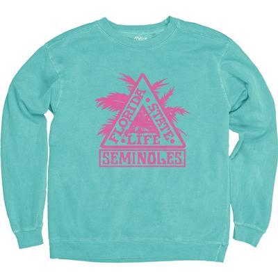 Florida State Blue 84 Vault Delta Life Comfort Colors Crew Sweatshirt