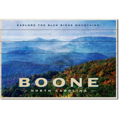 Legacy Boone Postcard Showcase Plank Sign