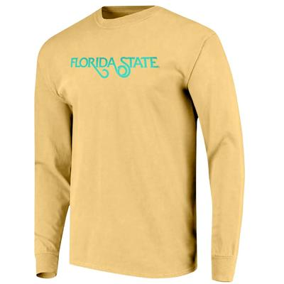 Florida State Simple Logo Comfort Colors Women's Long Sleeve Shirt